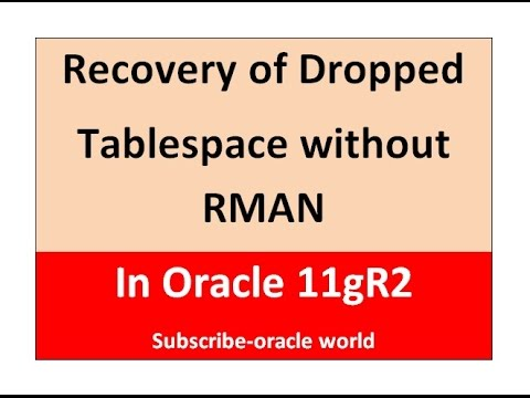 ORACLE WORLD - Recovery of Dropped Tablespace using  TSPITR without RMAN