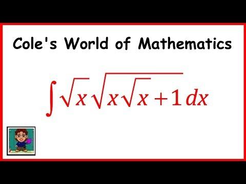 Integral of integral of (sqrt x)(sqrt((x sqrt x) +1))  ❖ Calculus 1 ❖ Square Root Integrals