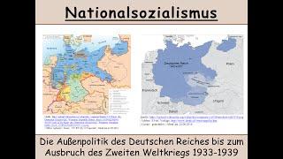Die Außenpolitik des Dritten Reichs 1933-1939 (Nationalsozialismus   Versailler Vertrag) 1/2