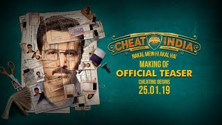 Making Of WHY CHEAT INDIA Teaser | Emraan Hashmi | Shreya Dhanwanthary | Soumik Sen