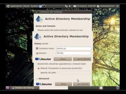 How joining and logging ubuntu machine into windows domains