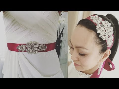 DIY Bridal Sash or Hair Adornment in Real Time : Facebook LIVE Series