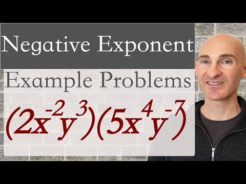 Negative Exponent Example Problems