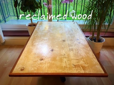 DIY rustic reclaimed wood coffee table part 1. Making the table top
