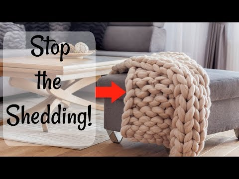 3 Secrets to Stop Chunky Knit Blankets From Shedding