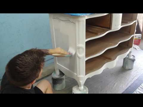 Painting, Staining, and Glazing a Provincial Dresser