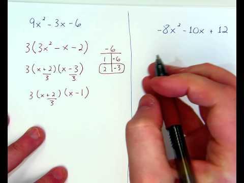 Factoring Quadratics when a does not =1, ex. 3