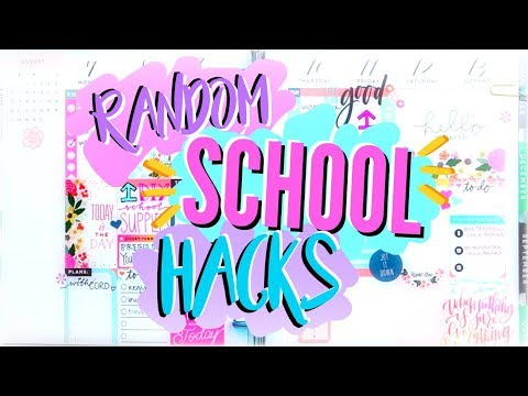 RANDOM EASY SCHOOL HACKS & TIPS - DIY Back to School 2017