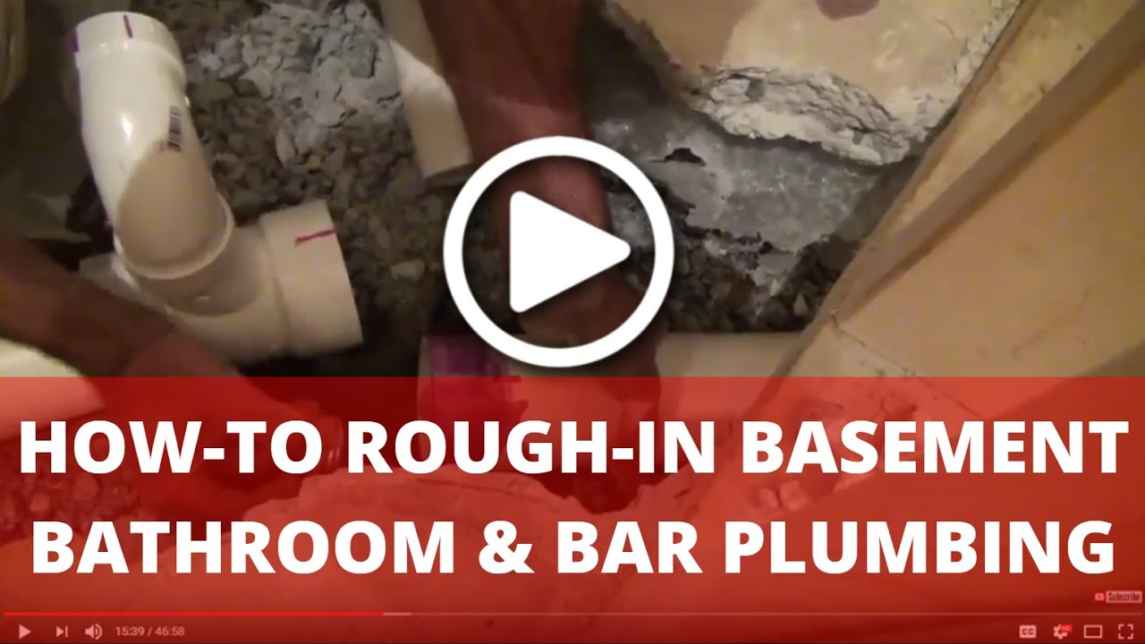 How-To Rough-in Plumbing for Basement Bathroom and Bar (PEX Water System)
