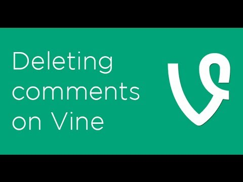 How to delete Vine comments