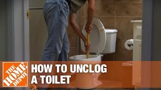 How To Unclog A Toilet The Home Depot