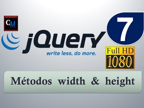 Curso de jQuery desde cero 7 - width & height