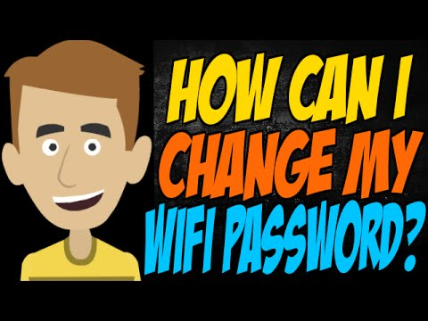 How Can I Change My WiFi Password?