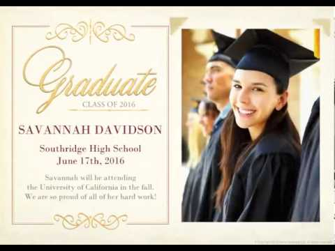Timeless Style Announcement - Graduation Announcement