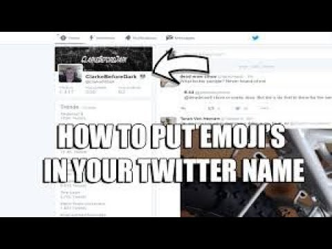 How To Put Emoji's in your twitter name