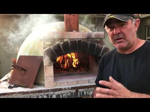 Backyard homemade woodfired pizza oven
