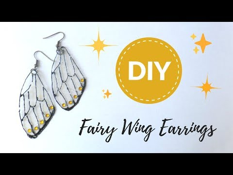 DIY Fairy Wings Earrings Fantasy Jewelry to Sell Butterfly Insect Wing How to by Fluffy Hedgehog