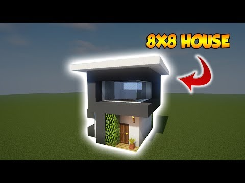 Minecraft: 8X8 Modern House Tutorial - How to build a Cool House