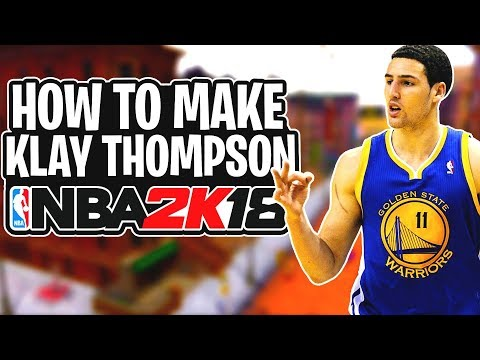 How To Make Your MyPlayer EXACTLY Like Klay Thompson NBA 2K18! Klay Thompson Face Creation & Build