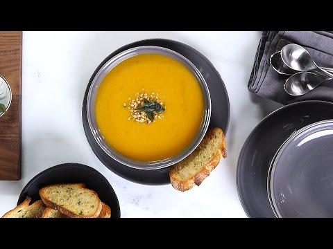 Roasted Butternut Squash Soup Using the Philips ProMix Hand Blender