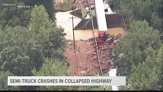 Man in truck that crashed on collapsed bridge is recovering