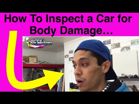 How To Inspect A Car For Body Damage | Telltale Signs a Car Was Painted or in a Collision