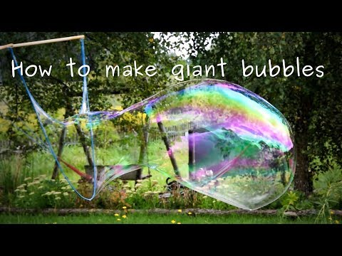 How to make giant soap bubbles at home. Mixture receip.