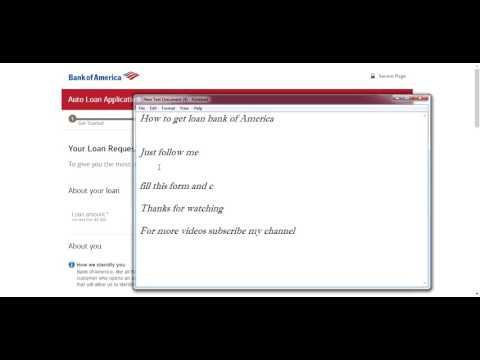 How to get loan bank of America