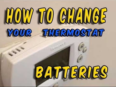 how to change batteries in a thermostat
