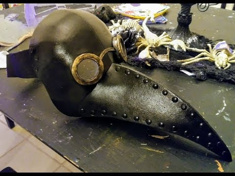DIY foam Plague Doctor mask