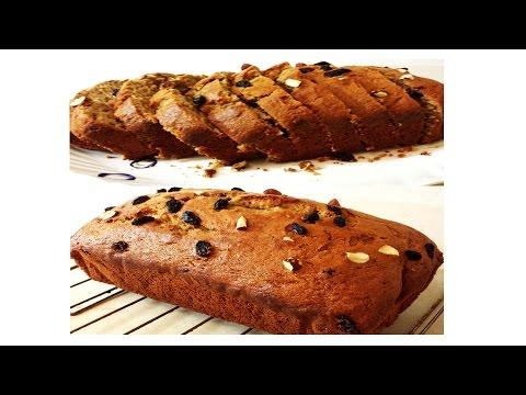 Banana Loaf Cake/Banana Bread with Whole Wheat flour   No butter, Healthier alternative