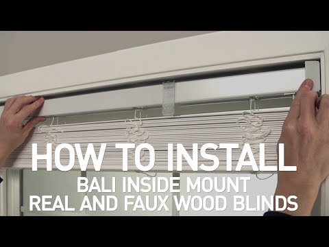 How to Install Bali® Real Wood and Faux Wood Blinds - Inside Mount