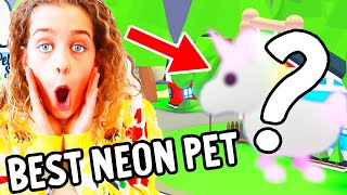 WHO CAN MAKE THE BEST NEON PET in Adopt Me Gaming w/ The Norris Nuts