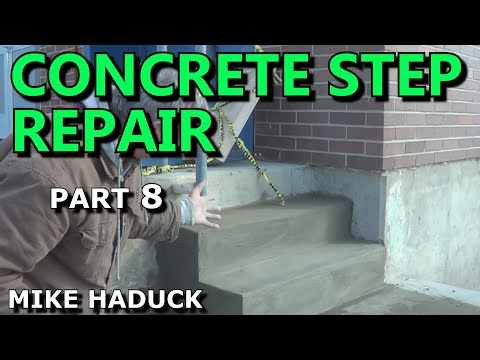 How I pour a concrete slab (part 4 of 4) with steps, Mike Haduck