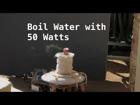 Boil Can of Water with Solar Powered Pancake Induction Coil