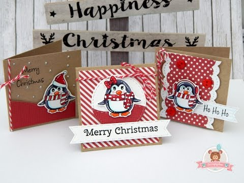 Mini christmas cards: free digital stamps