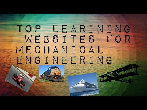 TOP LEARNING WEBSITES FOR MECHANICAL ENGINEERING