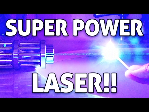 SUPER POWERFUL 5,000mW Handheld LASER!! Hands-on Burning Experiments!