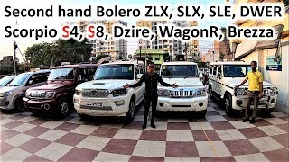 Bolero SLX, ZLX, SLE, DWER Scorpio S4, S8 For Sale Second hand Car Bazar Preowned Used Cars