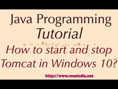 How to start and stop Tomcat in Windows 10?
