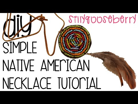 Simple Native American Necklace Tutorial