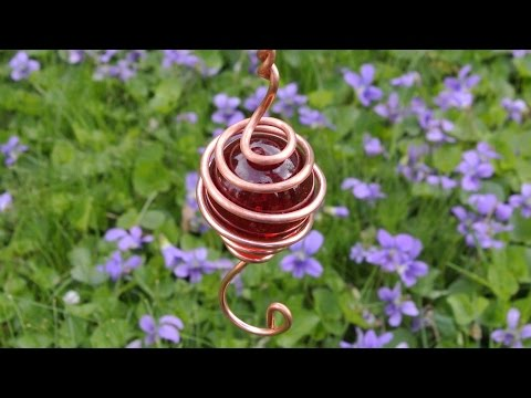 Copper wind charm (gift for mom) Gyrocopter!