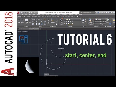 Autocad 2018 arc command tutorial - types of arc in autocad 2018