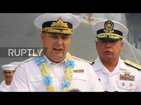 Philippines: Russian navy vessels arrive in Manila for goodwill visit