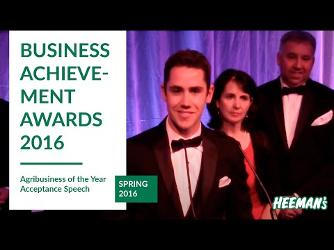London Business Achievement Awards - Agribusiness of the Year Acceptance Speech