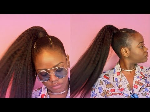 HOW TO | The Perfect Sleek High Ponytail on Natural 4c Hair!