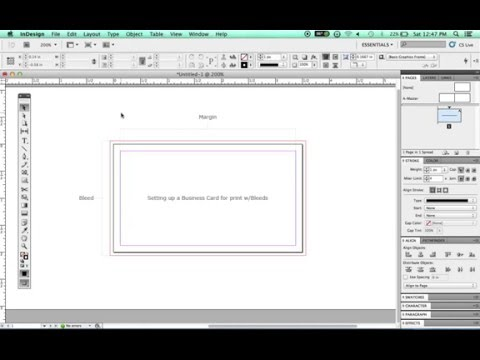 Adobe InDesign - Setting up a Business Card with Bleeds