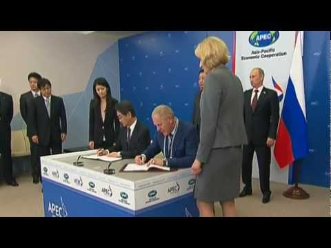 RUSSIA &  JAPAN  Signed a String of Bilateral Agreements