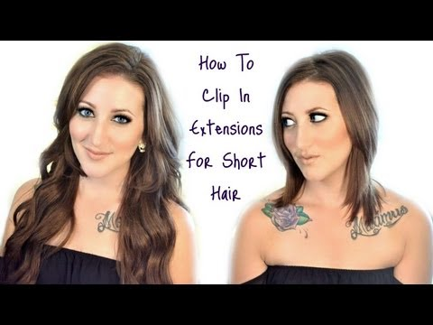How To Clip In Extensions For Short Hair | Megan McTaggart