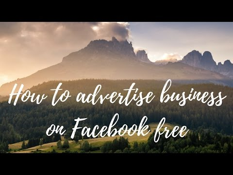 How To Advertise Business On Facebook Free